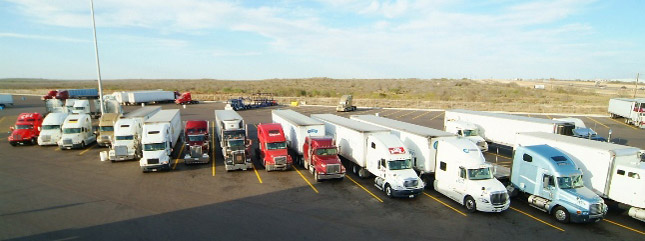 Funding will go toward adding parking capacity and to developing innovative ways to keep truck drivers up to date on space availability along these freight corridors. (Photo by TA)