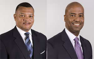 George Brooks (left) was named president of UPS's east region and Stan Deans (right) was named president of the company's central region.