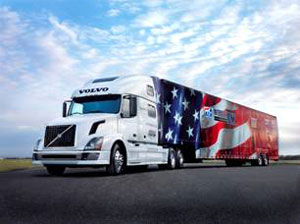 The Road Team travels the country with this Volvo VNL 780 and the American Trucking Associations' Image Trailer, delivering messages about the highway safety and the essential nature of America's trucking industry.