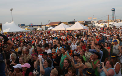 The free concert by Aaron Tippin attracted nearly 10,000 people during the Walcott Truckers Jamboree.