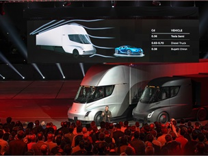 Tesla Unveils All-Electric Class 8 Semi Truck