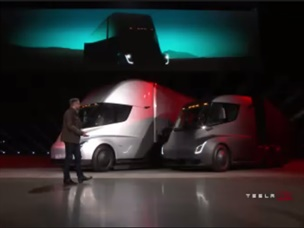 First Look: Tesla's All-Electric Semi Truck
