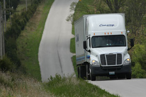 In 2011, trucking moved $603.9 billion in freight - more than 80% of all freight transportation revenue. (Photo courtesy of Con-way).