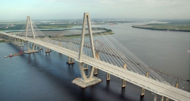 The Cooper River Bridge project in South Carolina is an example of a project supported by the Transportation Infrastructure Finance and Innovation program, for which the bill would boost funding.
