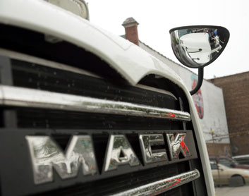 A new state law requires crossover mirrors on many trucks in NYC.