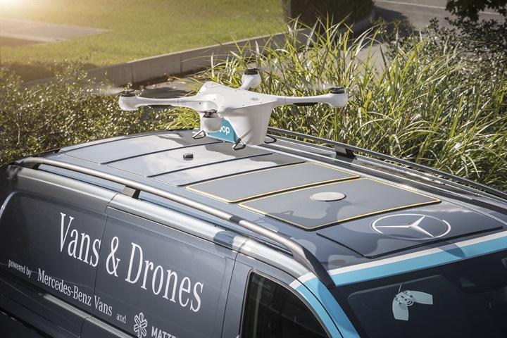 Mercedes-Benz Vans, Matternet, and Siroop start a pilot project for