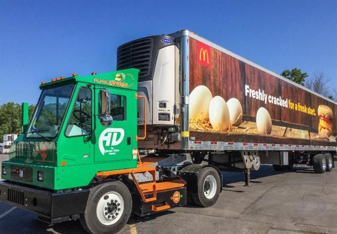 Drivers like the yard truck s quiet operation. Photo: Orange EV