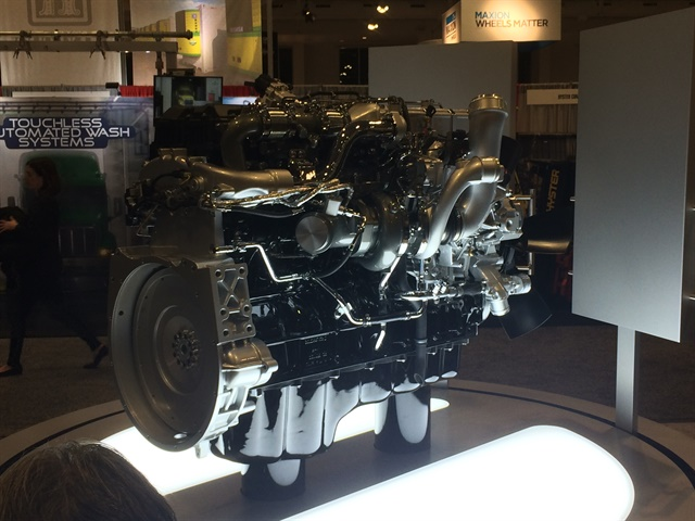 Navistar s new A26 diesel engine, unveiled at TMC in Nashville, is the