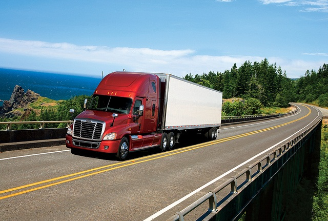 The Freightliner Cascadia is available with the AeroSmart and