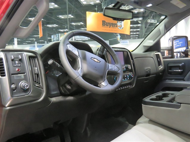Interior of the Chevy Silverado 6500HD. Photo: David Cullen