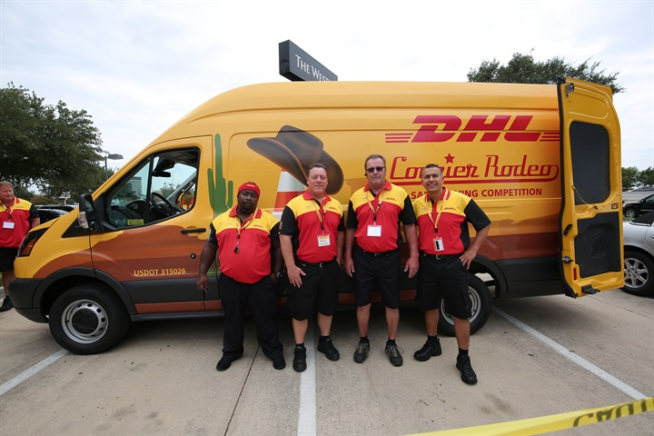 Photo of participants in DHL s Safe-Driving Rodeo competition courtesy