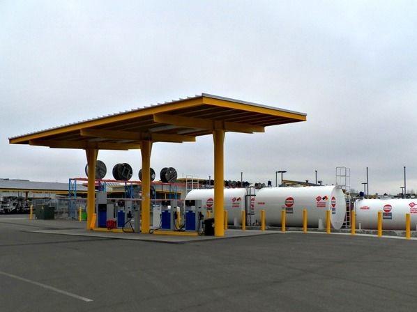 EWEB s renewable diesel fueling station. Photo courtesy of Oregon