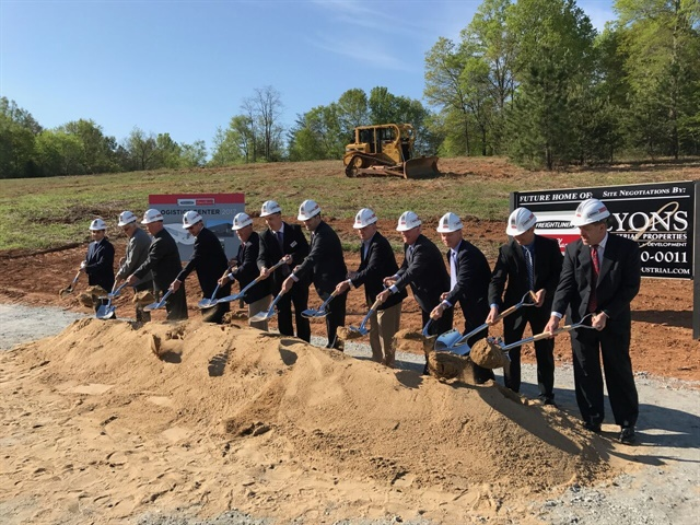 A groundbreaking ceremony for the new facility was held on April 13,