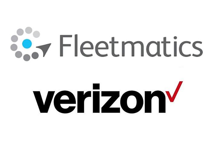 Logos courtesy of Fleetmatics and Verizon.