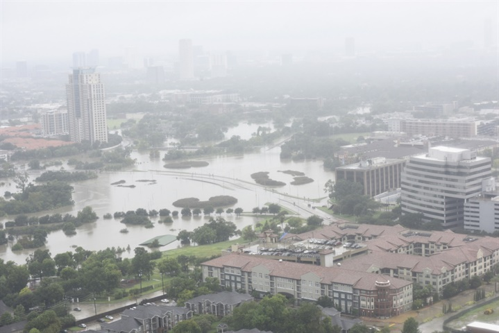 Photo of a flooded Houston on Aug. 27 Courtesy: U.S. Coast Guard.