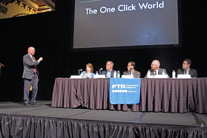 A panel discussion at the FTR Conference tackles the Amazon effect,
