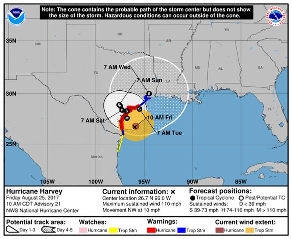The National Hurricane Center is advising against all but essential