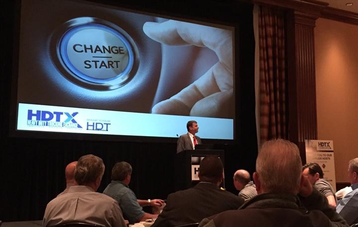 Jeff Sass addressing attendees of first HDTX fleet networking