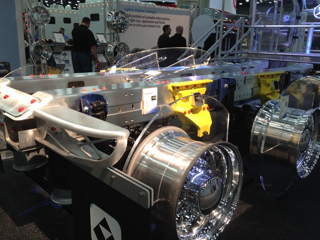 Alcoa says aluminum frame rails could lighten trucks by up to 900