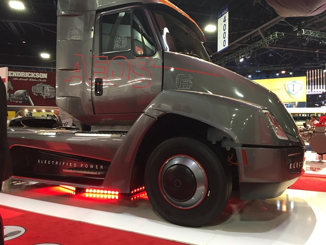Cummins showed off its new electric concept truck at the NACV show.