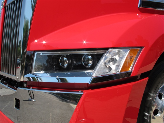 The 5700XE s headlights feature halogen projector beam hi and low