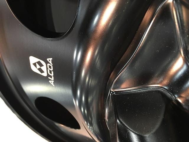 Alcoa displayed a few prototype black aluminum wheels at the