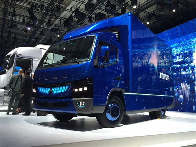 The Fuso eCanter shown at IAA displays a little more pizazz for the