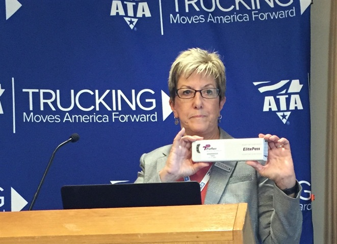 HELP Inc. President and CEO Karen Rasmussen shows off the new