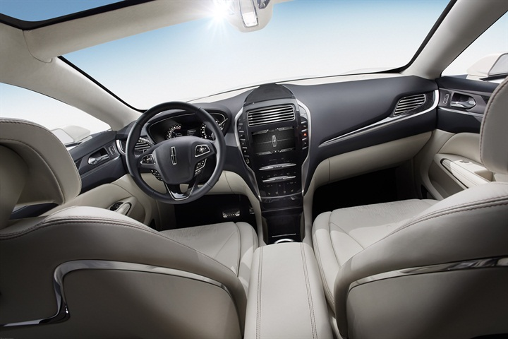 The MKC Concept features premium leather throughout the interior.