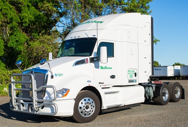 Matheson Trucking has announced it will add 27 new CNG-powered
