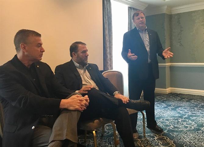 Mack exectives (l-r) John Walsh, Jonathan Randall, and Denny Slagle.