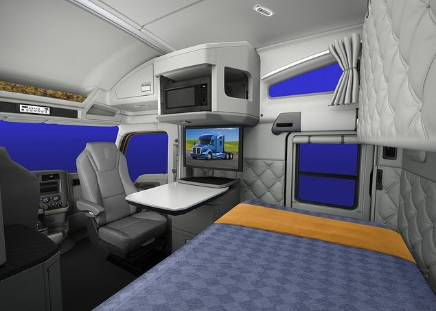 Kenworth's 76-inch mid-roof sleeper provides drivers with 6-1/2