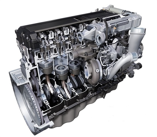 International s A26 12.4-liter diesel is being shipped in new LT and