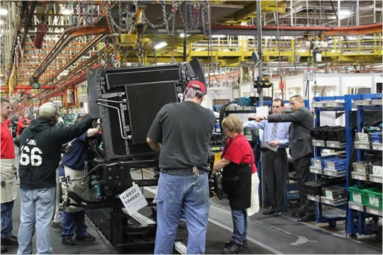 The jointly engineered Class 4/5 trucks will be built in Navistar s