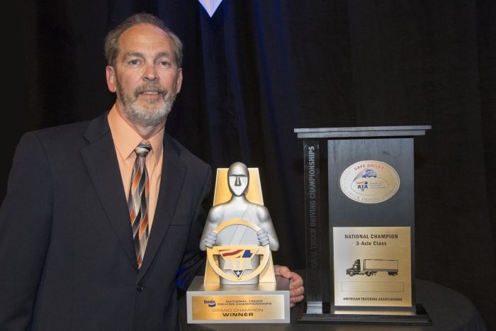 The 2016 National Truck Driving Championships winner, Charles White