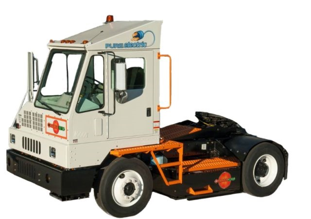 Orange EV s all-new Class 8 pure-electric terminal truck. (Photo