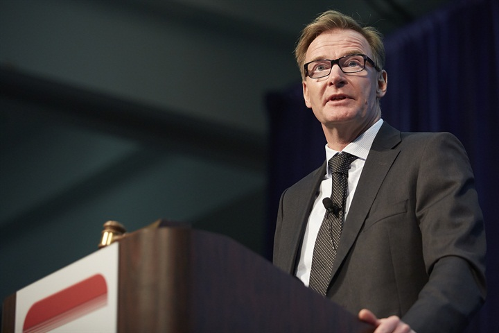 Volvo CEO Olof Persson keynoting HDMA Briefing at MATS. Photo by Paul