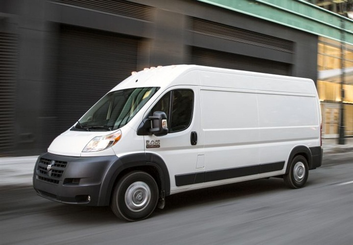 Photo of ProMaster van courtesy of FCA US.