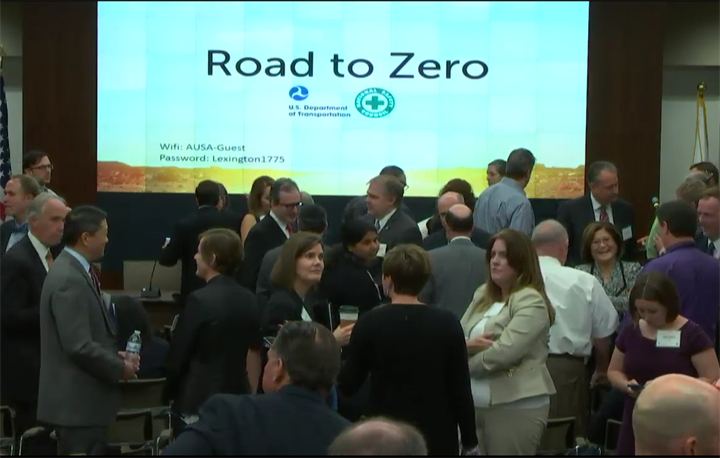 The NHTSA held a conference to introduce its Road to Zero campaign and