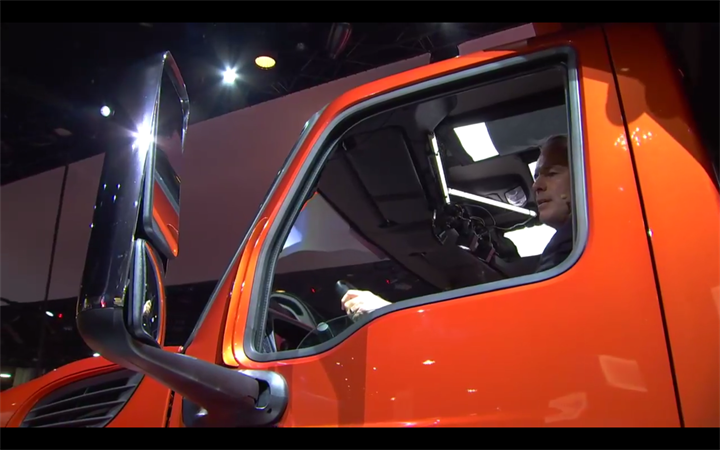A new stronger door features a larger window for better visibility.