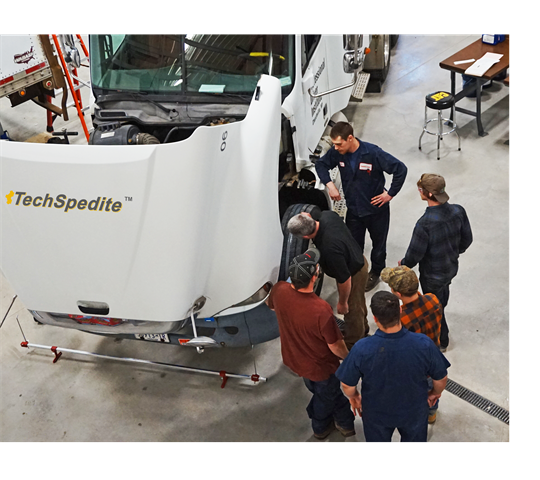 New technicians progress based on what they ve learned. Photo: