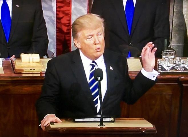 President Trump addressing Congress on Feb. 28. Image via