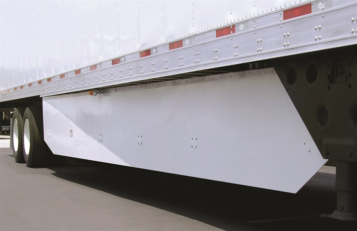 Trailer skirts like this one benefit some carriers, but not enough