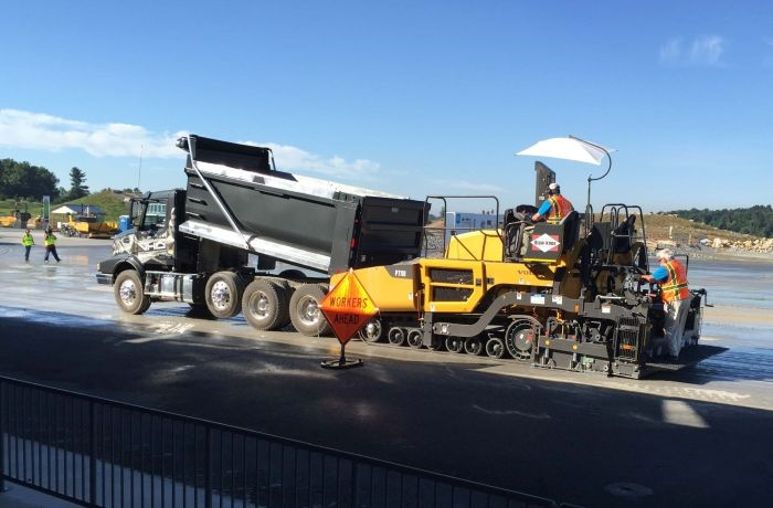 Paver Assist for the I-Shift on Volvo VHD model dump trucks helps