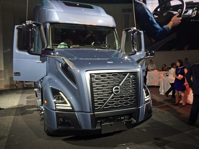 The truck builds on Volvo's established styling cues combined