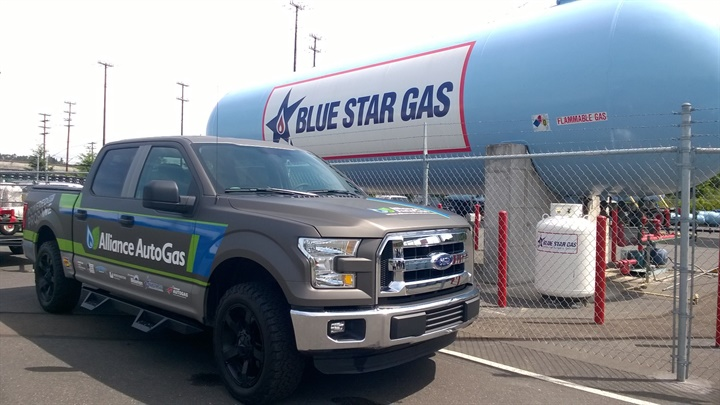 Propane vehicles are displacing about 1 million gallons of gasoline