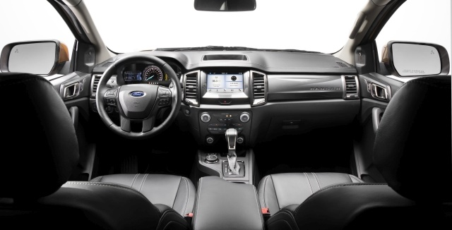 Available SYNC 3 features include Apple CarPlay and Android Auto compatibility, Ford+Alexapersonal assistant functionality and optional navigation. (Photo courtesy of Ford Motor Co.)