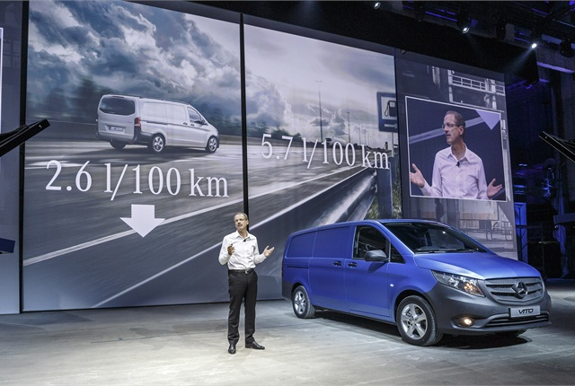 World premiere of the new Mercedes-Benz Vito in Berlin.