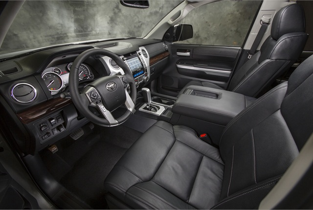 Ergonomic improvements to the 2014 Tundra include easier driver access to controls as the reach to the audio and HVAC controls was reduced by 2.6 inches.
