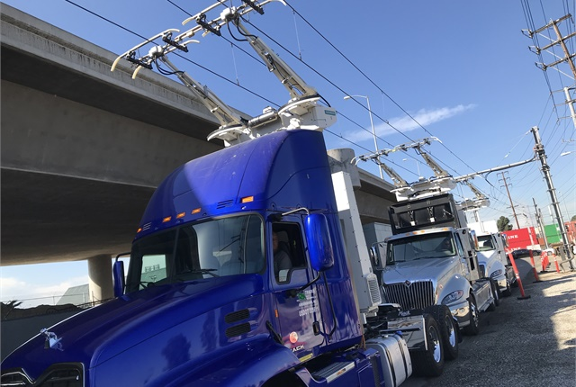 Three different types of trucks are being tested: one battery-electric  truck, a